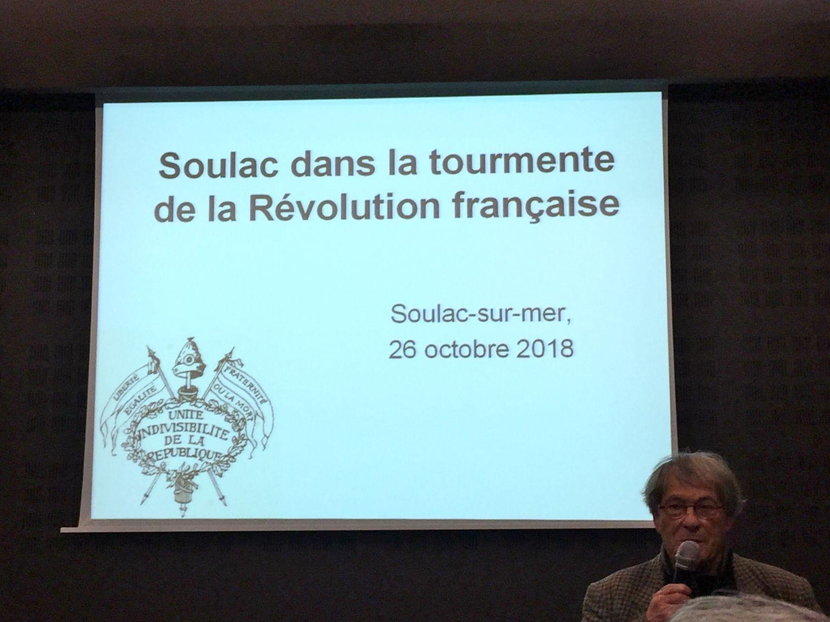 conférence Soulac à la Révolution française